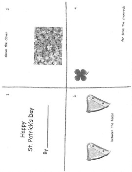 St. Patrick's Student Book (over, under, on top of)