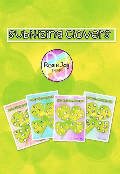 St Patrick's Subitizing Clovers  #springsavings