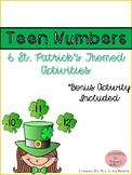 St. Patrick's Teen Number Activities