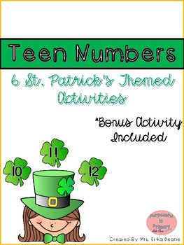 St. Patrick's Teen Number Activities