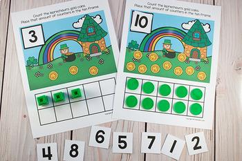 St. Patrick's Ten Frame Game  (Pre-K + K Math)