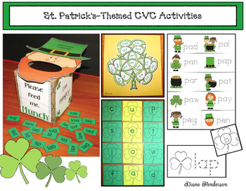 St. Patrick's Day Activities: St. Patrick's-Themed CVC Word Work Activities