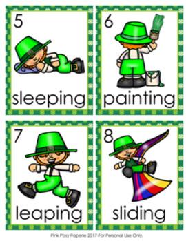 St Patrick's Leprechaun Verbs Write The Room Activity
