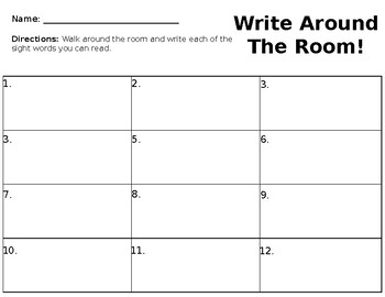 St. Patrick's Write Around The Room (Editable)