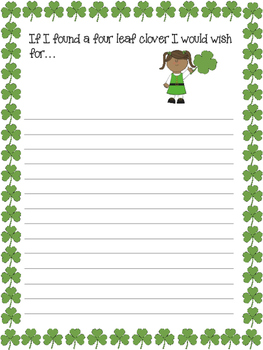 St Patrick's Writing Prompts