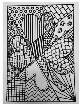 St. Patrick's Zentangle Coloring Page