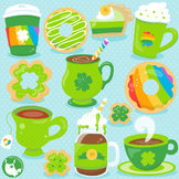 St-Patrick's coffee clipart commercial use, vector graphics  - CL1061