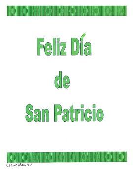St. Patrick's crown and hat/Una corona y sombrero para San Patricio