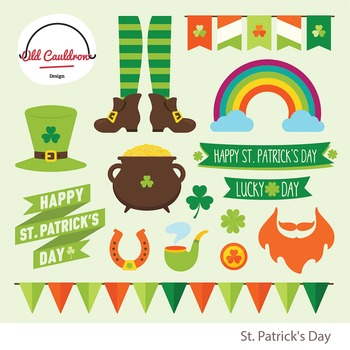 St. Patrick's day clipart commercial use CL027