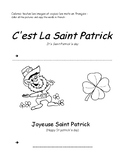 St Patrick's day in French  - La Saint Patrick