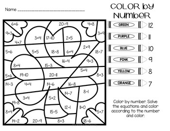 St. Patrick's day math NO PREP worksheets addition and subtract