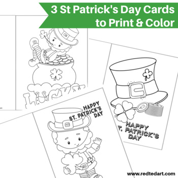 St Patrick Sgreeting Card Coloring Page St Patrick S Day Activities Fun