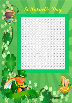 St Patrick wordsearch