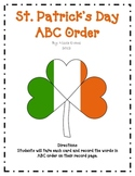 St. Patrick's ABC Order