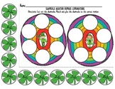 St. Patrick's Addition Number Combinations with Shamrocks