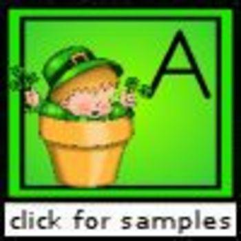 St. Patrick's Alphabet Matching (Matching alphabet letters)
