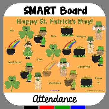SMART Board Attendance: St. Patrick's Day