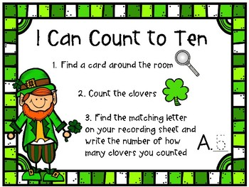 St Patricks Count the Room Clovers