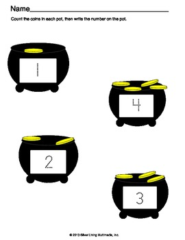 St. Patrick's Counting and Cardinality for Kindergarten