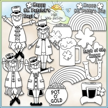 St. Patrick's Day Clip Art - St. Patrick's Clip Art - CU Clip Art & B&W