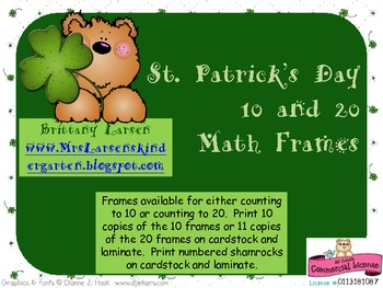 St. Patrick's Day 10 and 20 Math Frames