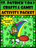St. Patrick's Day Crafts & Games Activity Bundle - Color&B/W