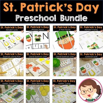 St Patrick's Day Activities Preschook PreK - Bundle