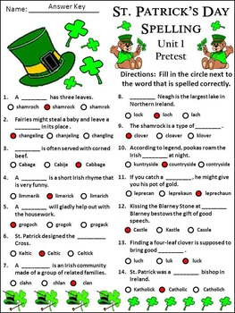 St. Patrick's Day Activities: St. Patrick's Day Spelling Activities Packet