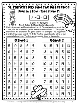 St. Patrick's Day Free: St. Patrick's Day Math Games