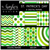 12x12 Digital Paper Set: St. Patrick's Day {A Hughes Design}