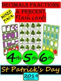 St Patrick's Day Decimals, Fractions and Percent all in one - Math grades 3-6