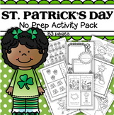 St. Patrick's Day Printable Activities No Prep Preschool & Kindergarten 83 pgs