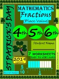 St Patrick's Day Fractions - St Patrick's Day Math - Grade 4, Grade 5, Grade 6