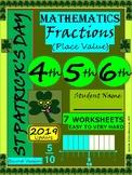 St Patrick's Day Fractions - St Patrick's Day Math - Grade 4, Grade 5, Grade 6