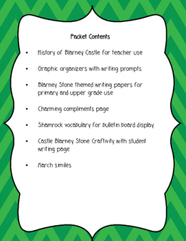St. Patrick's Day Language Arts Packet