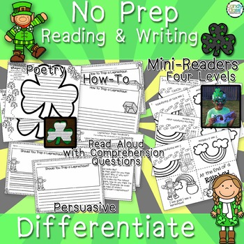 St. Patrick's Day Activities - No Prep Crafts, Read Aloud, Printables & More