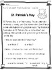 St. Patrick's Day Activities for First Grade
