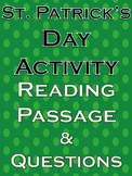 St. Patrick's Day Reading Comprehension Literacy History No Prep Activities