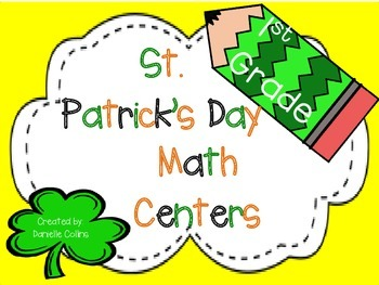 St. Patrick's Day 1st Grade Math Centers (12 CCSS Centers)