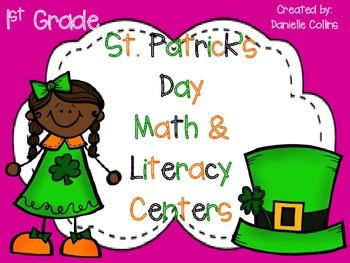 St. Patrick's Day 1st Grade Math & ELA Pack (22 CCSS Centers)