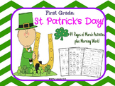 St. Patrick's Day 1st Grade Packet