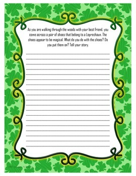 St. Patrick's Day 20 Writing Prompts and Graphic Organizers