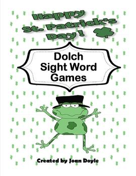 St. Patrick's Day 220 Dolch Sight Word Games