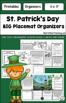 March Activities: St. Patrick's Day BIG Organizers