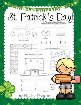 St. Patrick's Day worksheets Kindergarten