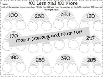 St. Patrick's Day 2nd Grade March Packet