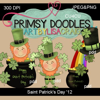 St. Patrick's Day 300 dpi clipart