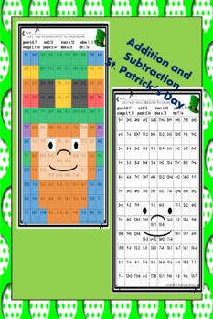 St Patricks Day Addition and Subtraction Leprechaun