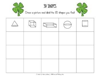 St. Patrick's Day 3D Shapes