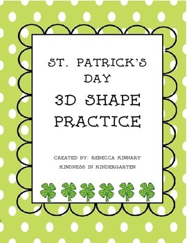 St. Patrick's Day 3D Shapes